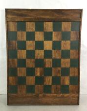 Rustic Wood Chess Board Wall Hanging Decor Lot 2026