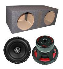 """Audiopipe TXX-BD3-12 12"""" 3600W Car Audio Subwoofers (Pair) + Dual Vented Sub Box"""