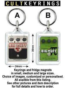 Big Muff keyring / fridge magnet - guitar pedal Electro Bass Delux Metal