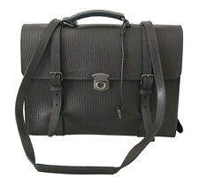 DOLCE & GABBANA Bag Leather Gray Mens Shoulder Strap Laptop Messenger RRP $2400