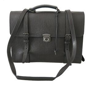 DOLCE & GABBANA Bag Leather Gray Mens Shoulder Strap Laptop Messenger RRP $2400