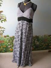 Essentials by Milano Women Black and White Long Dress Size 12
