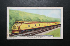 Union Pacific Railroad  Streamlined Diesel Pulman   1930's Vintage Card  VGC
