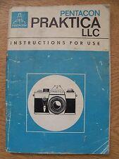 Instructions CAMERA PRAKTICA LLC Pentacon CD/Email