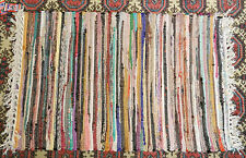 Hand Woven Cotton Kilim Style Rag Rug - BNWT 28 x 56 inches 70cm x 140cm