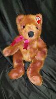 "TY BEANIE Buddies Taffybeary 14"" Plush Soft Toy Stuffed Animal"
