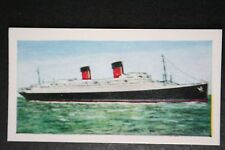 ILE DE FRANCE   CGT  French Line    1950's   Illustrated Colour Card