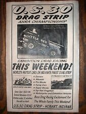 """(575) DRAG STRIP INDIANA US30 LITTLE RED WAGON GARAGE RACING POSTER 11x17"""""""