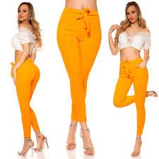 Treggings-pantalones con cinturón Neon-Orange talla 34-38/s/m
