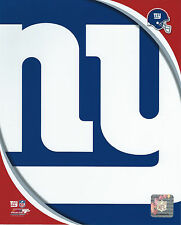 NEW YORK GIANTS LOGO 8 X 10 PHOTO WITH ULTRA PRO TOPLOADER