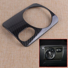 Decor 1x Headlight Switch Panel Carbon Fiber Fit for VW Golf 6 MK6 GTI 2008-2012