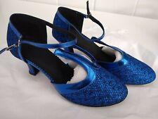 JJ's House Sparkling Blue Dancing Shoes UK5, (37).   [138]