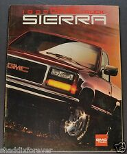 1992 GMC Sierra Pickup Truck Brochure SL SLX SLE ST Z71 1500 4x4 Original 92