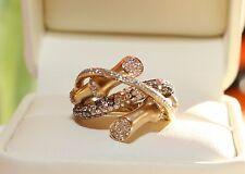 LeVian Chocolate Diamond and Vanilla Diamond bamboo-textured ring 5/8 carat