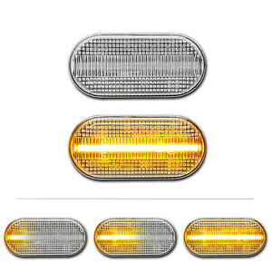 WEISSE dynamische LED Seitenblinker Smart Fortwo III 453 Coupe Cabrio Brabus