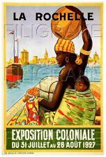 LA ROCHELLE EXPO 1927 Rf125-POSTER/REPRODUCTION 60x80cm* d1 AFFICHE VINTAGE