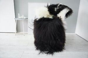 Genuine Rare Single Icelandic Sheepskin Rug   Natural Long Wool Rug    SI 543