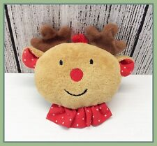 EDEN Rudolph the Red Nosed Reindeer Small Plush Ankle or Wrist Baby Rattle Toy