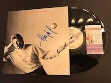 HUEY LEWIS SIGNED LP ALBUM VINYL Small World & THE NEWS Autograph JSA