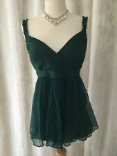 Whistles Green Silk Evening Top Size 10