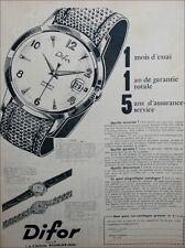 6815 PUBLICITÉ advertising MONTRE DIFOR   NOT WATCH  PRINT AD 1960