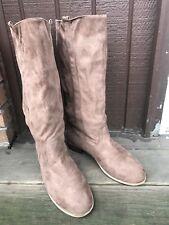 Charles Albert New-2345 Womens 9 Tan Microfiber KneeHigh PullOn Casual Boots-432