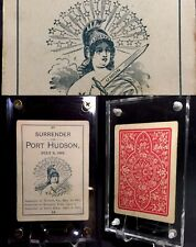 c1865 American Civil War Parlor Game Antique Playing Cards Port Hudson Single