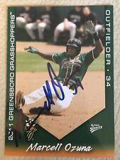 2011 Greensboro Grasshoppers Multi-Ad #27 Marcell Ozuna Autograph Auto IP