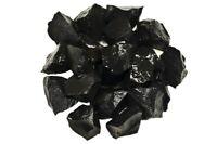 1 lb Wholesale Black Jasper Rough Stones - Tumbling, Tumbler Rocks, Reiki