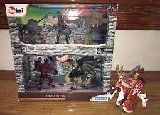 bbi Legends Blue Box 13 Pieces Dragon Werewolf and Knight Set
