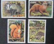 Ireland 2002 mammals squirrel hedgehog badger otter sg1524-27 4v Mnh