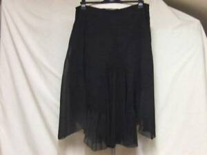SOUTH SMART CASUAL BLACK LINED CHIFFON SEQUIN SKIRT LADIES 18 W37 L26/32