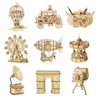 Robotime 3D Laser-Cut Puzzle DIY Wooden Model Kits Toy Gift for Girls Boys Kids