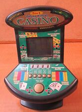 EXALIBUR 5 n 1 Deluxe VIRTUAL CASINO Tabletop Game Blackjack POKER Slots *WORKS*