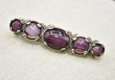 Celtic Signed Brooch Kilt Pin Vintage Miracle Marbled Purple Agate