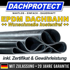 DACHPROTECT EPDM DACHFOLIE für Carport + Garage + Balkon + Wohnhaus + Dachbahn