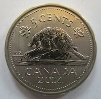 2014 CANADA 5 CENTS SPECIMEN NICKEL COIN