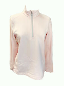 DAILY SPORTS MAYRA HALF ZIP size LARGE colour PARFAIT