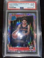 2018 Trae Young rookie #198 Donruss Optic Shock PRIZM PSA 9 MINT-Cheapest On Eba