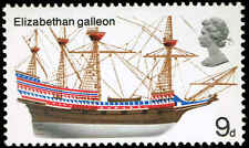 Scott # 576 - 1969 - ' Elizabethan Galleon ' Two Phosphor Lines