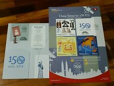 150 Years ITU autographed Malaysia 2015 empty folder Free Poster