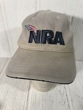 New listing Nra Baseball Cap Hat Support Our Troops American Flag Adjustable Tan Embroidered