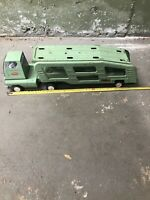 Vintage 1960's TONKA Mound Minn Pressed Steel Light Green Car Hauler Carrier Toy