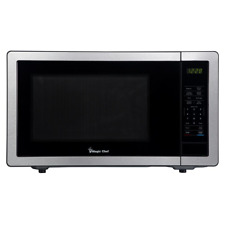 1.1 cu. ft. Countertop Microwave in Stainless Steel with Gray Cavity