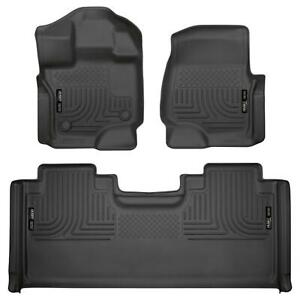Husky Liners 94051 Pair of Black Front/2nd Seat Floor Mats for F-150 SuperCab