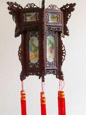 China Leuchte aus Holz mit handbemaltem Glas -Lampe
