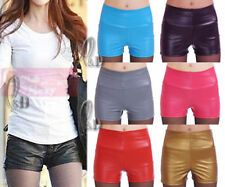 Faux Leather Hand-wash Only Shorts for Women
