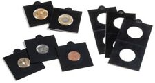 25 BLACK LIGHTHOUSE 22*5mm MATRIX SELF ADHESIVE 2x2 COIN HOLDERS - Suit 2c & $2