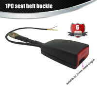 "Car Front seat belt buckle with Warning Cable 7/8"" Camlock"
