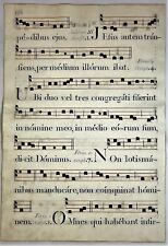 Antiphonal - FERIU U HEBDOM. ANTIPH. I. - Musical Copper Engraving - c1700